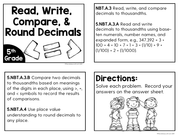 Read, Write, Compare & Round Decimals Task Cards (5th Grade) | Distance Learning | Google Apps