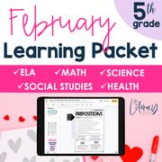 February Learning Packet 5th Grade I Google Slides and Print