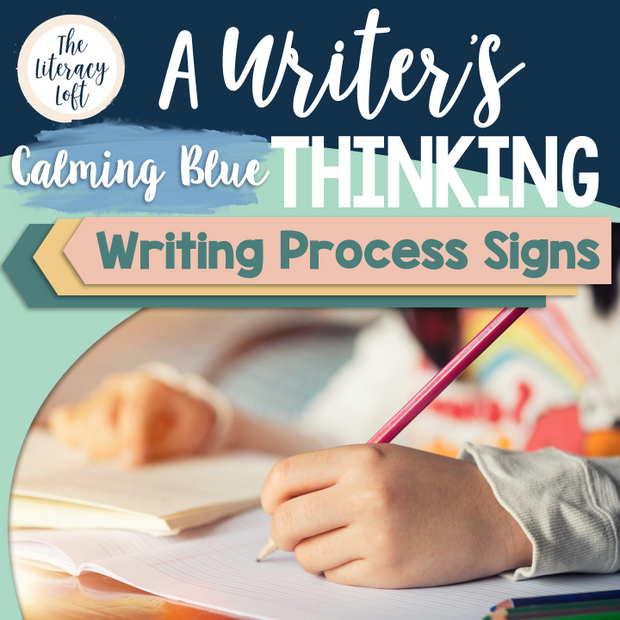 Writing Process Signs {Calming Blue}