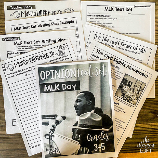 Opinion Text Set {MLK Day} I Distance Learning I Google Apps