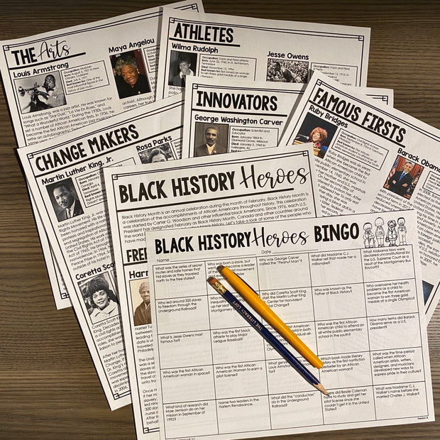 Black History Month Reading Bingo