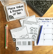 Place Value and Powers of Ten Task Cards (5th Grade) | Distance Learning | Google Apps