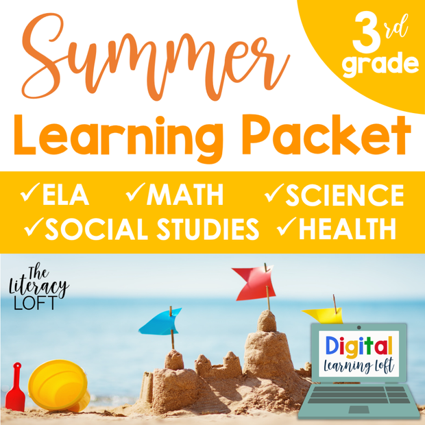 Summer Learning Packet (3rd Grade) Google Slides + Print