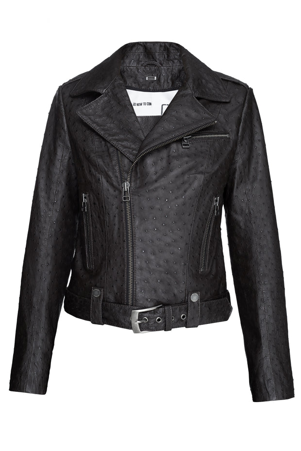 SALE – Classic ostrich leather jacket
