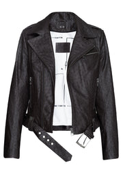 Classic ostrich leather jacket