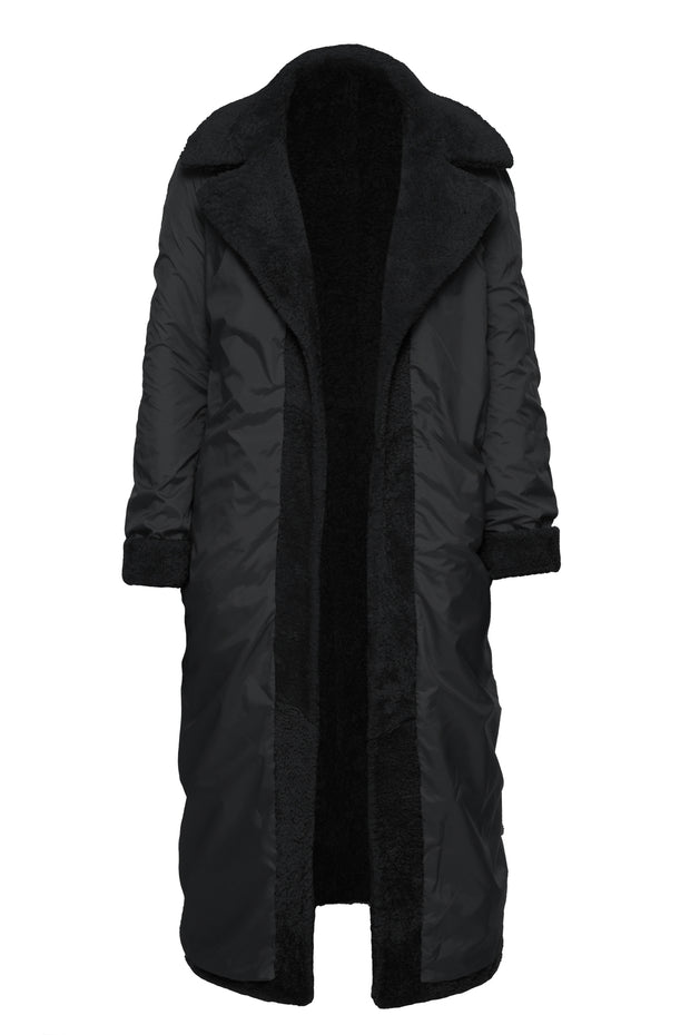 Reversible fur coat