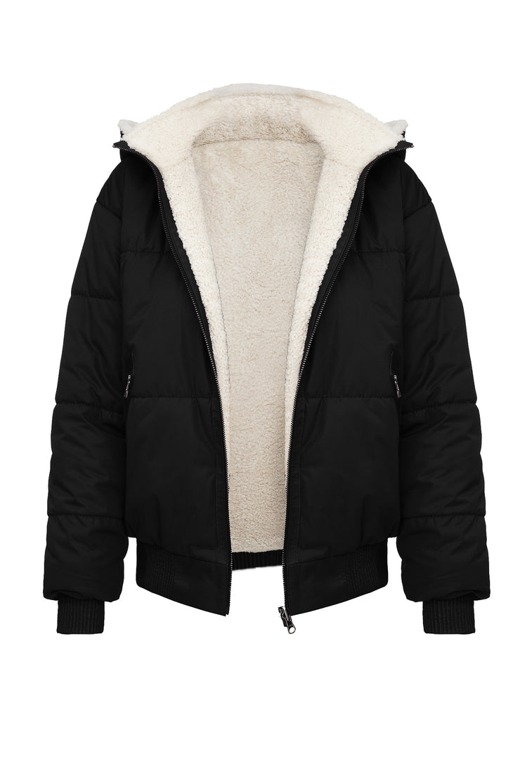 SALE – Reversible shearling bomber jacket
