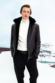 Classic shearling jacket
