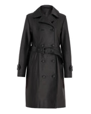 SALE – Classic leather trench coat
