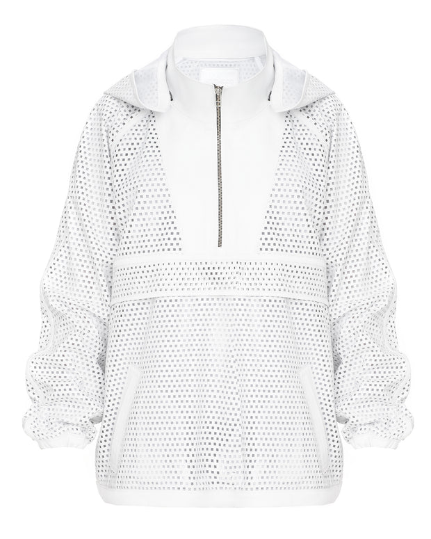 SALE – Perforated leather anorak