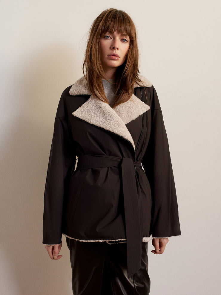 SALE – Sheepskin fur jacket