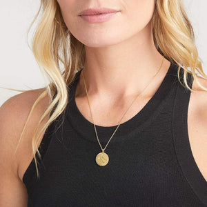 Astrology Coin Necklace (Gemini)