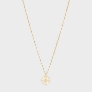 Power Birthstone Coin Necklace (April)
