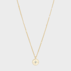 Power Birthstone Coin Necklace (December)