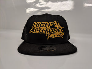 New Era 9FIFTY Black and Gold Hat