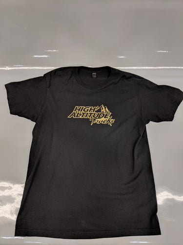 Short Sleeve Black and Gold T Shirt (2018)