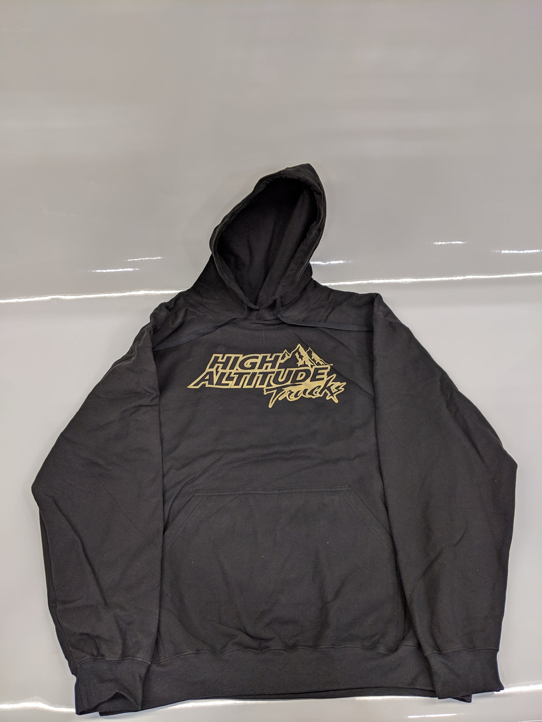 Long Sleeve Black and Gold Hoodie