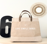 "Cabas ""love simple things"""