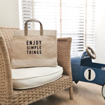 "Cabas ""enjoy simple things"""