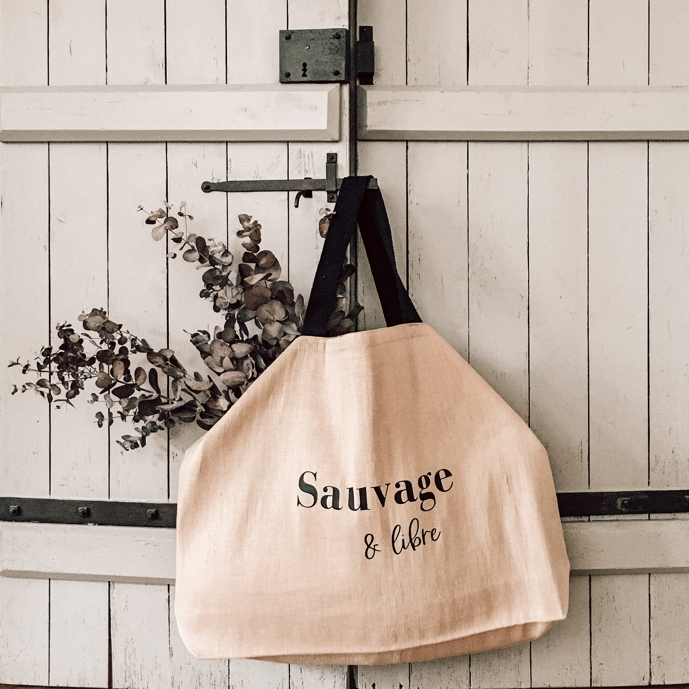 "Le big tote bag ""sauvage & libre"""