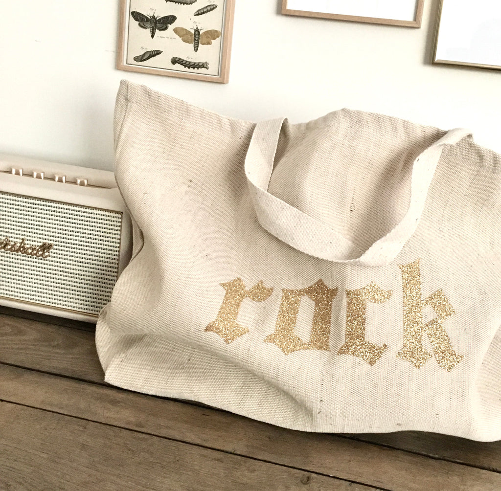 "Le Big Tote Bag ""rock"""