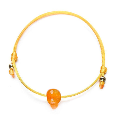 bracelet femme cordon réglable orange