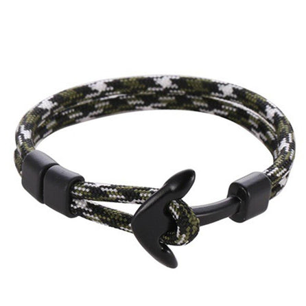 bracelet corde ancre homme camouflage