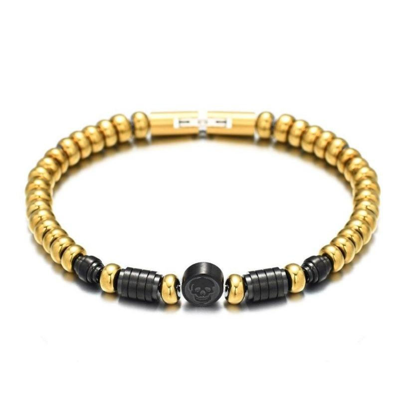 bracelet homme luxe perle or