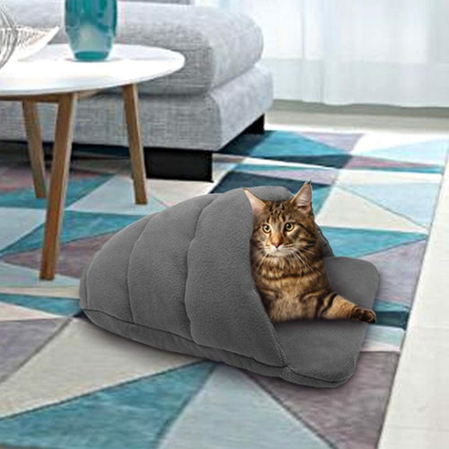 Cat Slipper Bed - Warm & Cozy