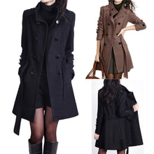 Load image into Gallery viewer, Women Fashion Loose Winter Warm Long Sleeve Button Button Jacket Coat With Belt