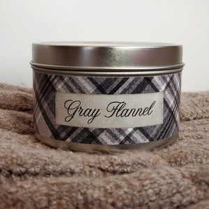 Gray Flannel / 8 oz. Candle Tin