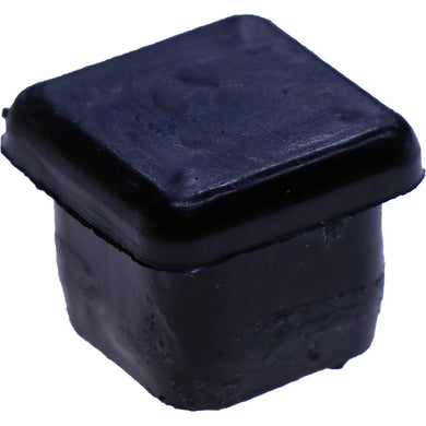 #107 16x16mm Black Square Plug Smooth Sides