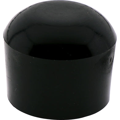 #632 Heavy Duty Round Black Cap 22mm