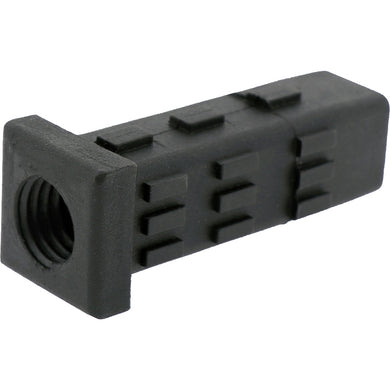 #1505 5/8W Threaded Square Tube Insert 25.4mm