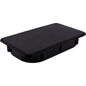 #50431 125x75 Black Plastic Rectangle Plug