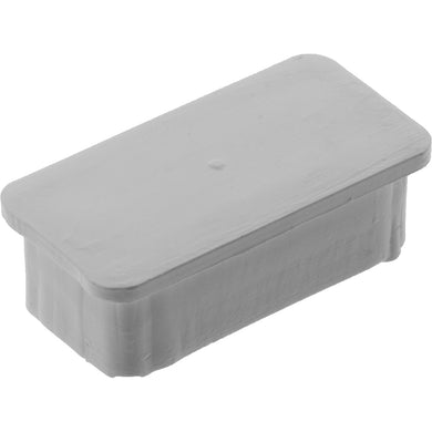 #70491 Rectangle Plug 40x20mm White Smooth
