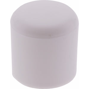 #70633 Heavy Duty Round Cap White 25mm