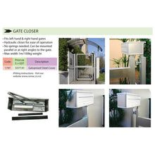 Load image into Gallery viewer, #10869 - Gate Bundle Kit (1x Latch, 1x Hydraulic Gate Closer, 2x Heavy Duty Hinges)