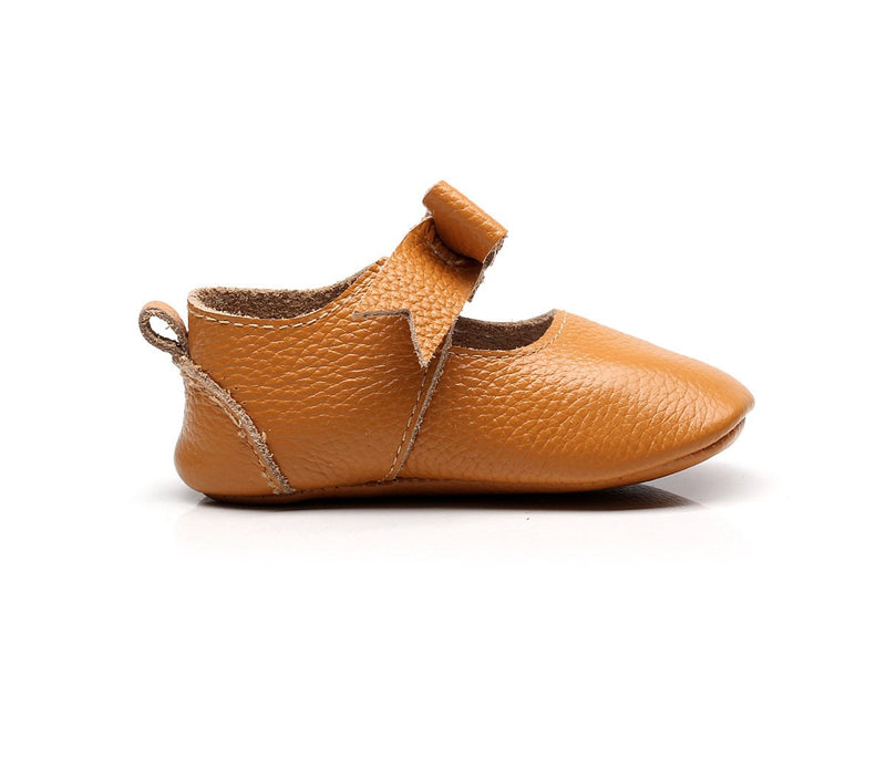 Little Ballerina vegan moccasins collection in brown