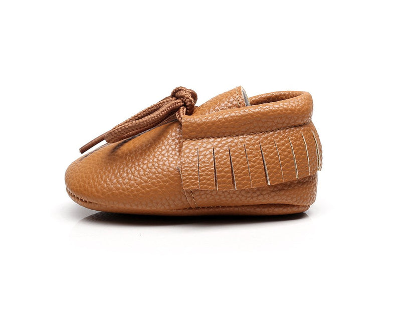 Little Camper vegan moccasins collection in brown