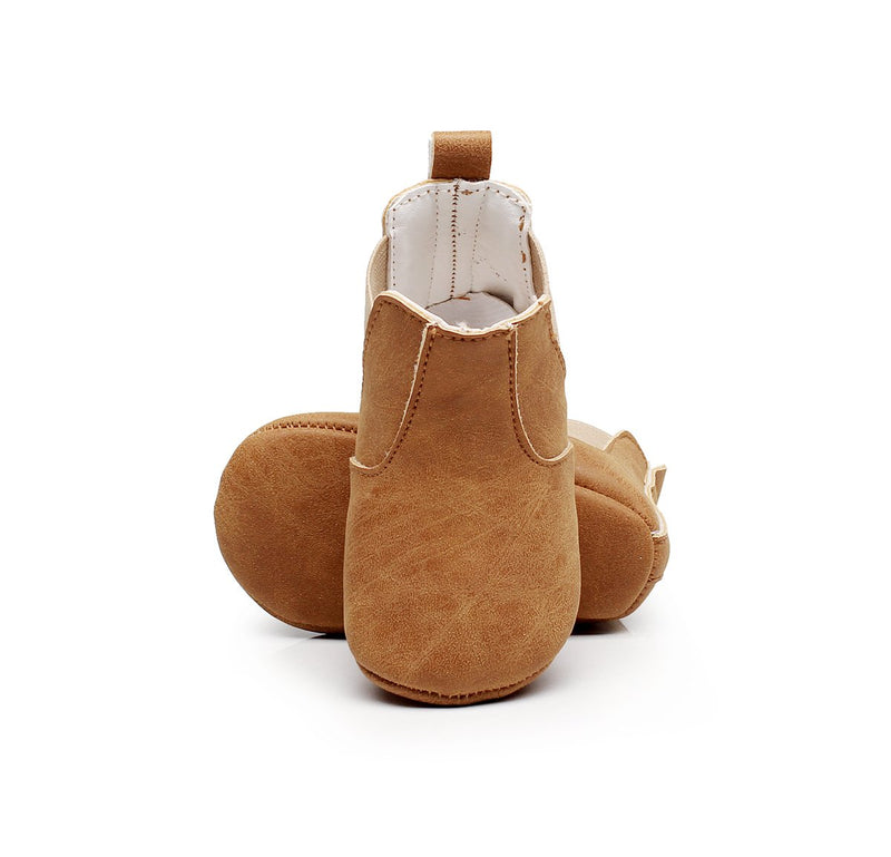 Little Wonderland vegan moccasins in brown