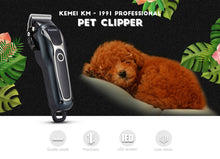 Load image into Gallery viewer, Kemei Rechargeable Hair Clipper with LCD Display Electric Cordless Pet Hair Trimmer Kit 110-240V