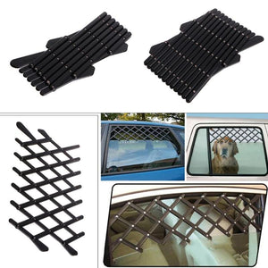 Pet Dog Car Window Ventilation Safe Guard Mesh Vent Protective Fence Outdoor