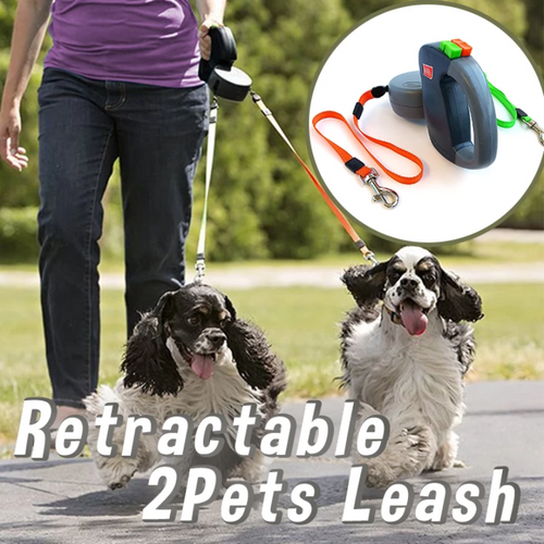 2 in1 Retractable Pets Leash