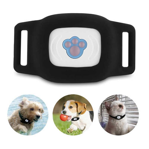Smart Waterproof IP67 MiNi Pet GPS AGPS LBS Tracking Tracker Collar For Pets