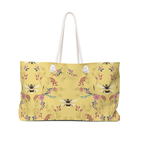 HONEY BEE in Gold - Shopper Tote | Weekender - Hayden Harlow