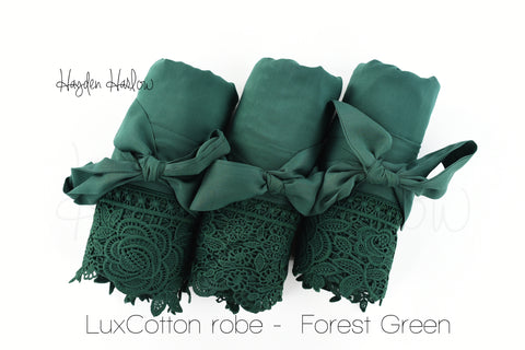 LuxCotton Robe- Forest - Hayden Harlow