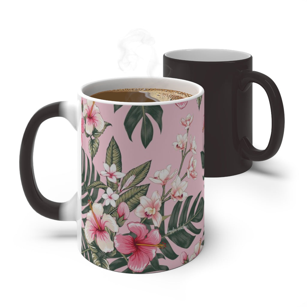 PINK HIBISCUS - Color Changing Mug - Hayden Harlow