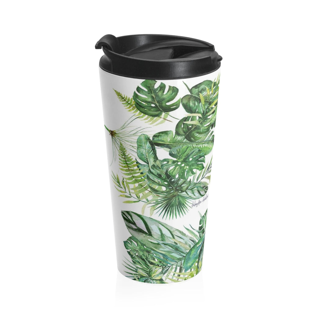 MONSTERA - 15 oz Stainless Steel Travel Mug - Hayden Harlow