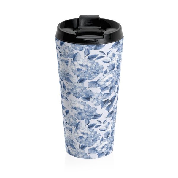 HYDRANGEA - 15 oz. Stainless Steel Travel Mug - Hayden Harlow